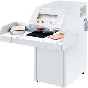 Destructeur de papier IDEAL 4108 forte capacité avec table d'alimentation et bande de transport