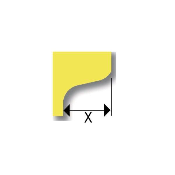Accessoire de découpe double arrondi pour Onglematic 7